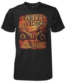 Harley-Davidson Men's Classic Ad Motorcycle Short Sleeve T-Shirt, Black (M)