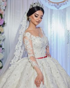 The first time Tarlia tried on her wedding dress, we took her in the morning to have a look and then she tried it on just WOW! Wedding Goals, Dream Wedding, Wedding Day, Wedding Shot, Hijab Wedding Dresses, Arabic Wedding Dresses, Bridal Hair, Wedding Ceremony, Wedding Hairstyles