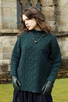 St Brigid design from Aran Knitting in Lapwing Hebridean 3 Ply.