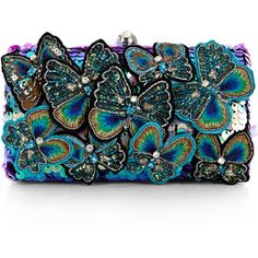 Accessorize Belle Butterfly Hardcase Clutch Bag and other apparel, accessories and trends. Embellished Purses, Embroidered Bag, Beaded Purses, Beaded Bags, Butterfly Bags, Pin On, Purses And Handbags, Mk Handbags, Black Handbags