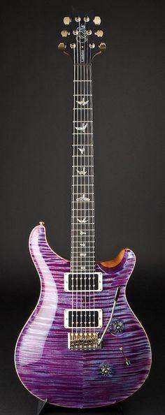PRS Artist Package Custom 24 Violet Pattern Thin Hybrid Hardware   World Guitars