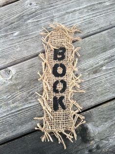 Burlap bookmark. Can use black marker instead of paint.