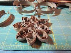 Art out of toliet paper rolls!