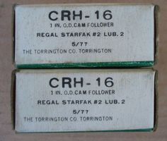 "Lot of 2 NOS TORRINGTON 1"" O D Cam Follower Bearings CRH 16 