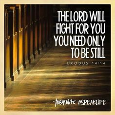 The Lord is fighting for me. Bless his holy name