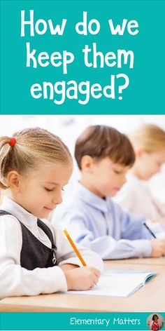 """How do we keep them engaged? Some children finish their daily work much faster than others. How can we keep them engaged without assigning """"busy work? Elementary Teacher, Elementary Education, School Teacher, Upper Elementary, Teaching Strategies, Teaching Resources, Teaching Ideas, Classroom Organization, Classroom Management"""