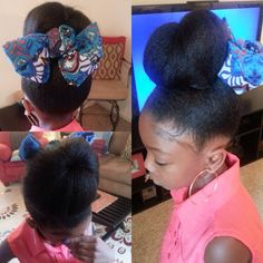 Bun n' Bow For a Lovely Little Princess - http://community.blackhairinformation.com/hairstyle-gallery/kids-hairstyles/522623/