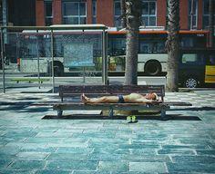 Sunbathing man