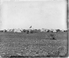 Antonio Cavilla Photographer: Campamento de la expedición italiana en 1900.