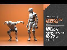 (16) Cinema 4D & Mixamo - Combine Mixamo Animations Using Motion Clips - YouTube