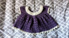 "I made this myself, the full tutorial is on youtube at the channel ""Bagodaycrochet"". This dress is called ""Lil Sprout Baby Dress"" and is meant for babies in the age of 0-6 months old."