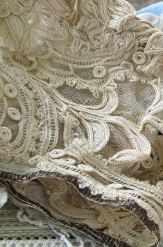 cream colored vintage lace