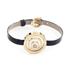 Chopard Happy Spirit 18K Yellow Gold & Diamond Leather Arm Band
