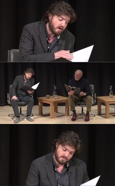Tom Burke reading poetry <3  * The Lads in Leather are talented and amazingly entertaining actors. I'm really happy that I happened across the Musketeers series =} Please support these guys in their craft of acting! Be enthusiastic and support their careers. We want to keep them around for a bit. Jus' saying! *