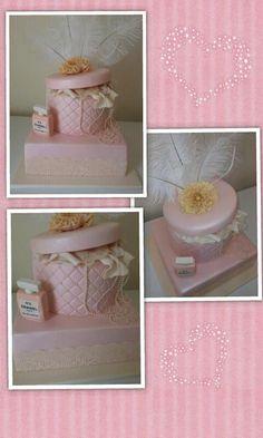 vintage style jewellery box cake designed by https://www.facebook.com/#!/SweetaliciousByRosemary