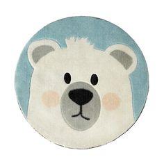 Tapis rond D60cm pour enfant motif ours