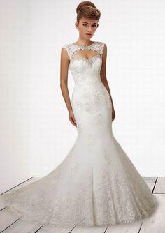 Fashionable Trumpet / Mermaid  Sweetheart  Beading  Embroidery  Court Wedding Dress