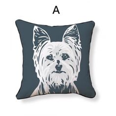 Home Textile New Arrival 44*44 Cm Lovoly Westie Dog Pattern Cushion Covers Home Sofa Chair Car Pillow Cover Decoration Seat Pillow Case