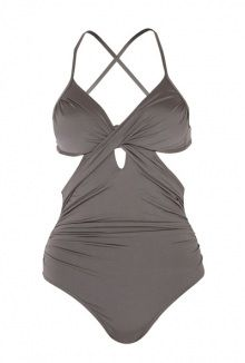 Jets lustre cross front one piece with tie back