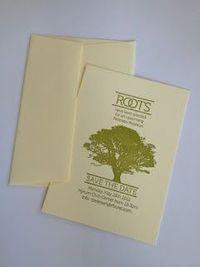 Family Reunion Letter Press save the date by Royston Design #family reunion, letterpress,save the date