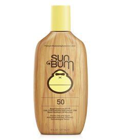 Sun Bum SPF 50 Moisturizing Sunscreen Lotion for sale online Sunscreen For Sensitive Skin, Sunscreen Spf 50, Facial Sunscreen, Best Sunscreens, Sun Bum, Lotion, At Least, Moisturizer, Vegan