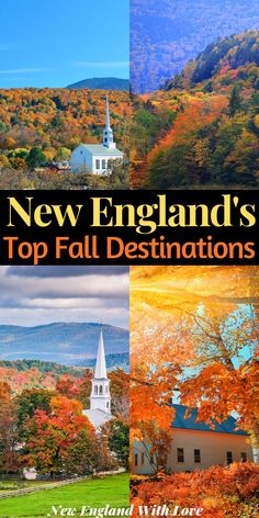 Where in New England can you find the magic of autumn? These 6 towns are the perfect spots for a New England fall vacation. babies flight hotel restaurant destinations ideas tips New England Fall, New England Travel, Fall In Connecticut, Maine In The Fall, Fall Vacations, Beach Trip, Beach Travel, Travel Usa, Spain Travel