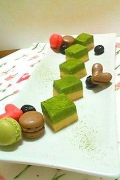 Japanese style nama chocolate - green tea and kinako -