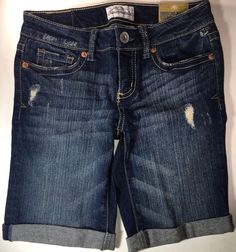 78104b40dc58e AEROPOSTALE Juniors Size 00 New With Tags Bermuda Jean Shorts 9 Inseam   fashion  clothing  shoes  accessories  womensclothing  shorts (ebay link)