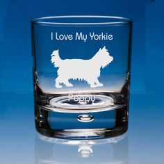 Yorkshire Terrier Dog Lover Gift Engraved Personalised Whisky Glass - Your Message - Birthday Gift - Valentine Gift - Dog Lover Gift