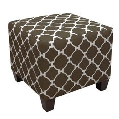 I pinned this Lummus Park Ottoman in Chocolate from the Jill Rosenwald event at Joss & Main!