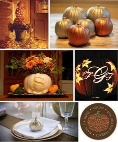 southern living pumpkin design | ... lit pumpkins southern living gilded pumpkins thrifty decorating blog