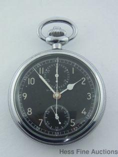 Hamilton Military Chronograph 19J Model 23 Pocket Watch An 5742