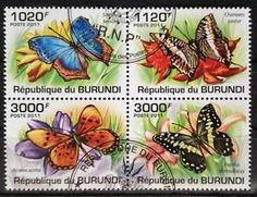 BURUNDI flora | ... -Butterflies-Papillons-Fauna-Tiere-Burundi-2011-Zusammendruck