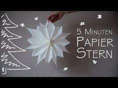 Stern mit Butterbrotpapier basteln - YouTube …