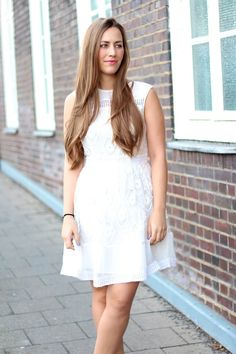 White mini lace Dress with @asos by Fabes Fashion #asos #lacedress #whitedress #littlewhitedress
