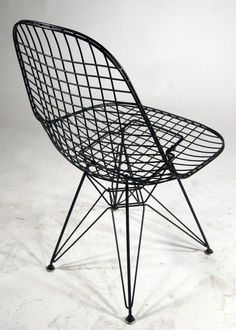 Eames Style Wire Chair With Eiffel Base.