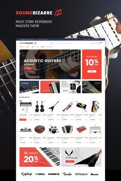 Magento Theme , SoundBizarre - Music Store