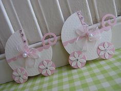 handmade card decoration: Sweet Pink Baby Stroller ...