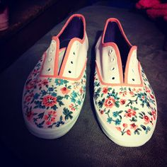 Painted shoes I made. :) This also has a how-to so you can make your own!