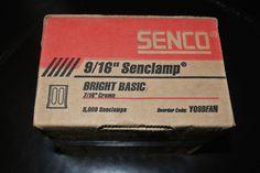 "Senco Y09BFAN 9/16"" Senclamp BRIGHT BASIC 3,000 Nails NEW SEALED BOX #Senco"