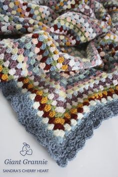 Lovely Giant Granny Square blanket by Cherry Heart