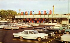 Grand opening of a Sentry Foods store in the early The 1961 Ford in the foreground looks just like the one my parents had. West Allis Wisconsin, Madison Wisconsin, Milwaukee City, Milwaukee Wisconsin, Fort Atkinson, Old Fort, Number Two, Local History, Old Buildings