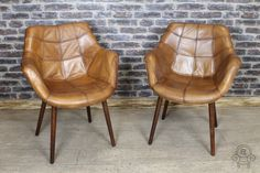 This tan leather chair comes from our leather seating range. This armchair is ideal for a library, office, kitchen or dining room. Other colour available...