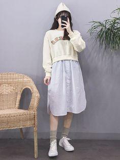 Korean Fashion – How to Dress up Korean Style – Designer Fashion Tips Frock Fashion, Girl Fashion, Fashion Outfits, Fashion Design, Style Fashion, Fashion Spring, Korean Fashion Trends, Korean Street Fashion, Asian Fashion