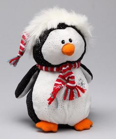 Black & White glitter penguin plush toy $17.00 #MaryMeyer