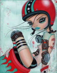 Caia Koopman's Pop Surreal Pin-Ups: cannonGirl.jpg