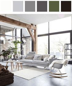 Living room color palette - amber black dark-chartreuse-green dark-harlequin tangelo
