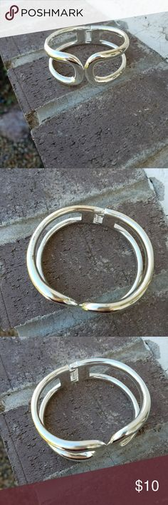 bracelet silver colored cuff bracelet none Jewelry Bracelets