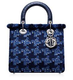 LADY DIOR - Bleu Roi tweed and sequins Lady Dior bag Dior Purses, Dior Bags ca8338ada8