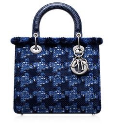 LADY DIOR - Bleu Roi tweed and sequins Lady Dior bag